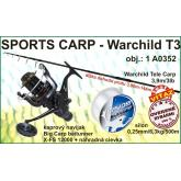 Sports Carp set Warchild tele 3,9m / 3lb + naviják + silon