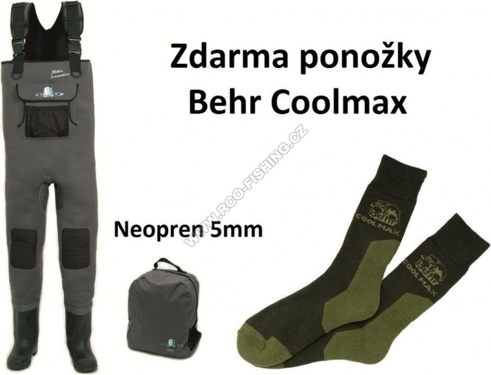 5ba4baf510c Prsačky neoprenové Platin-Innovation 5mm Behr + ponožky COOL MAX ...