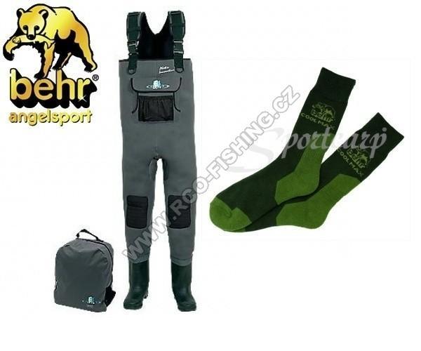 2f3be630274 Neoprenové prsačky Behr 5 mm + ponožky COOL MAX zdarma - Rybářské ...