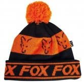 Čepice Fox Black/Orange Lined Bobble
