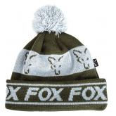 Čepice Fox Green/Silver Lined Bobble